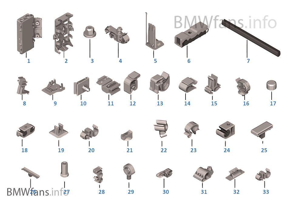 Various cable holders