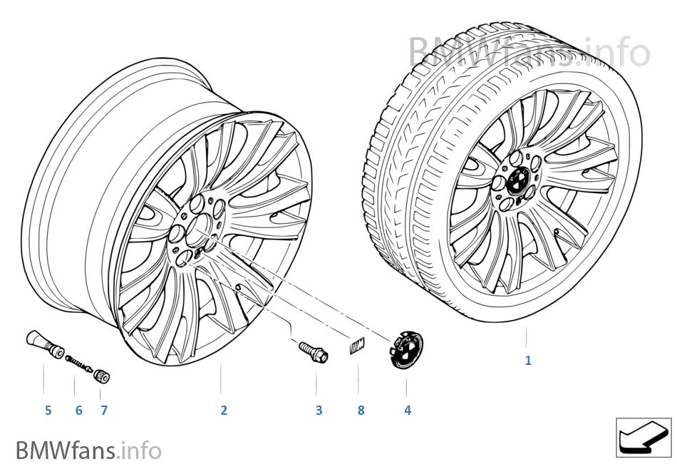 BMW 경합금 휠 M V-스포크 223