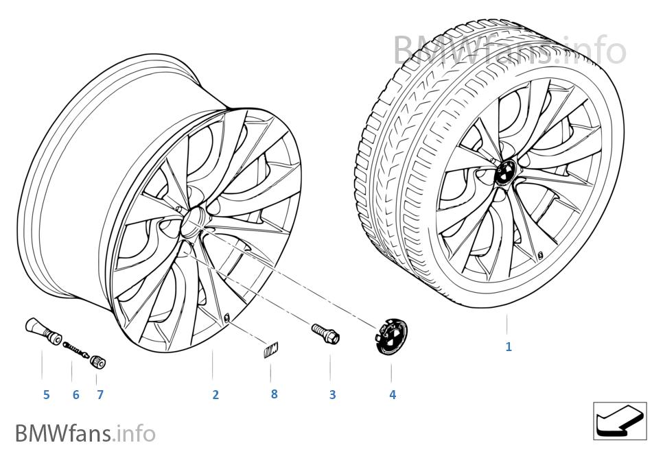 Л/c диск BMW с V-образными спицами 227