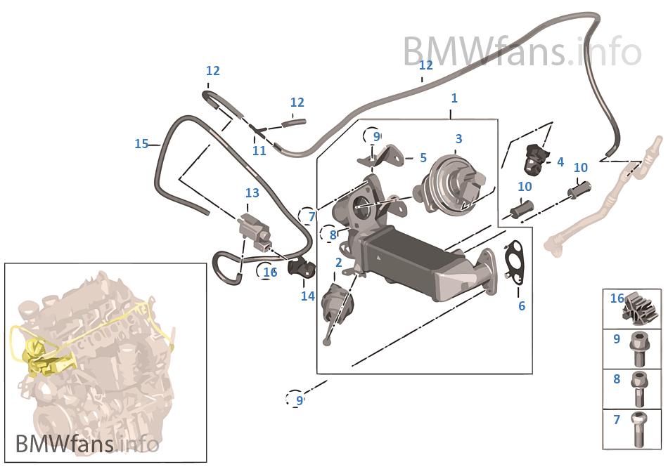 abgasschadstoff reduzierung k hlung bmw x3 e83 lci x3 n47 europa. Black Bedroom Furniture Sets. Home Design Ideas