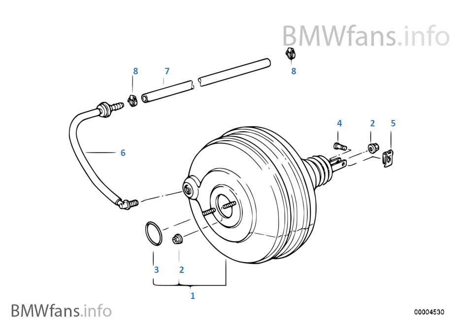 bremskraftverst rker unterdruck bmw 5 39 e34 540i m60 europa. Black Bedroom Furniture Sets. Home Design Ideas