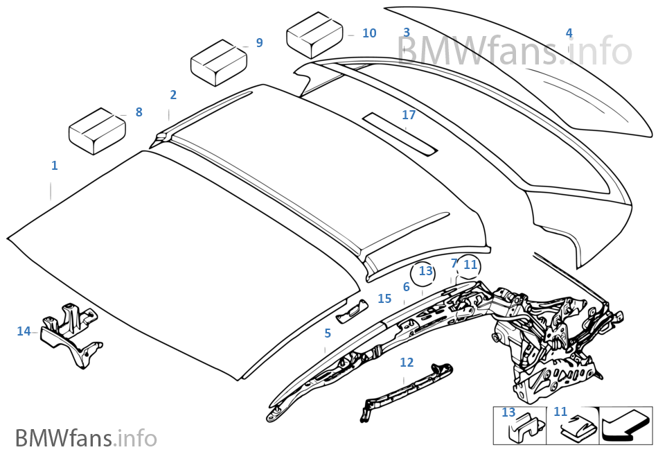 bmw e93 parts diagram bmw image wiring diagram hardtop retractable roof sections bmw 3 e93 328i n51 usa on bmw e93 parts diagram