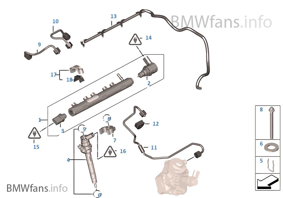 Hochdruckspeicher/Injektor/Leitung