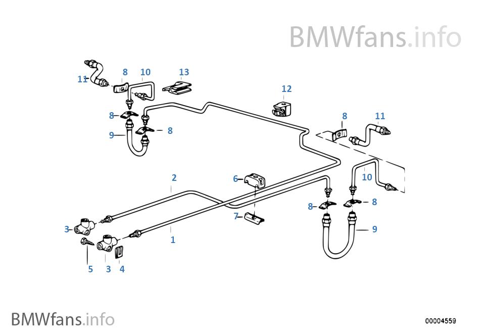 R ブレーキ ライン ABS/ASC+T