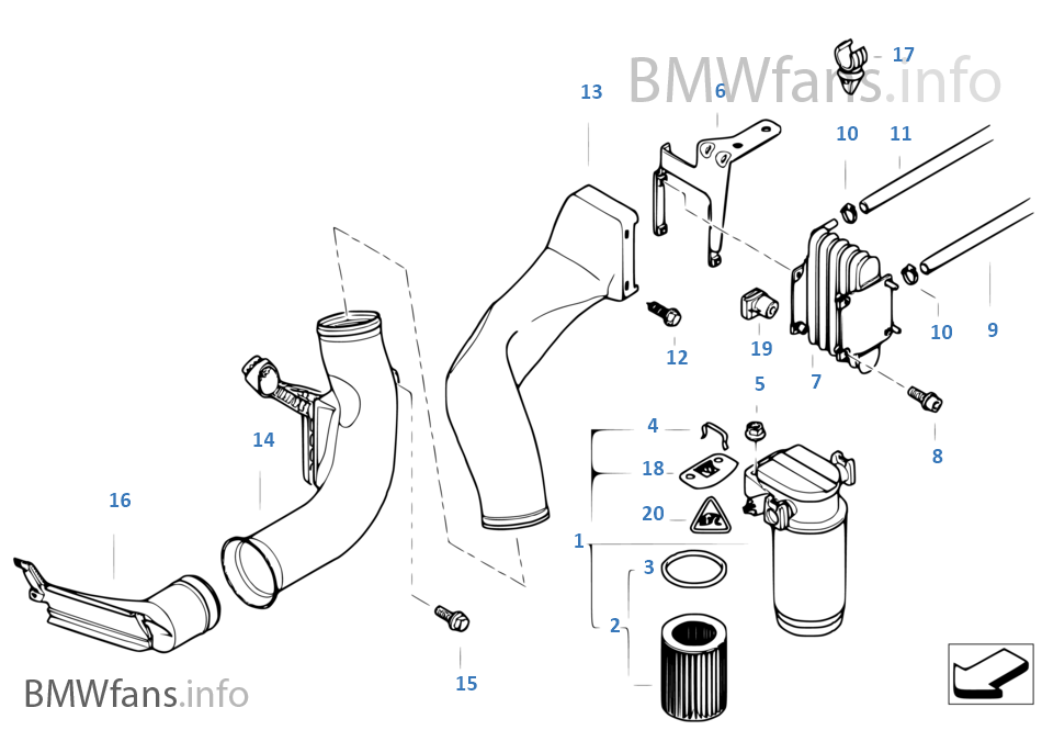 Kraftstofffilter Kraftstoffk Hlung Bmw 7 E38 730d M57