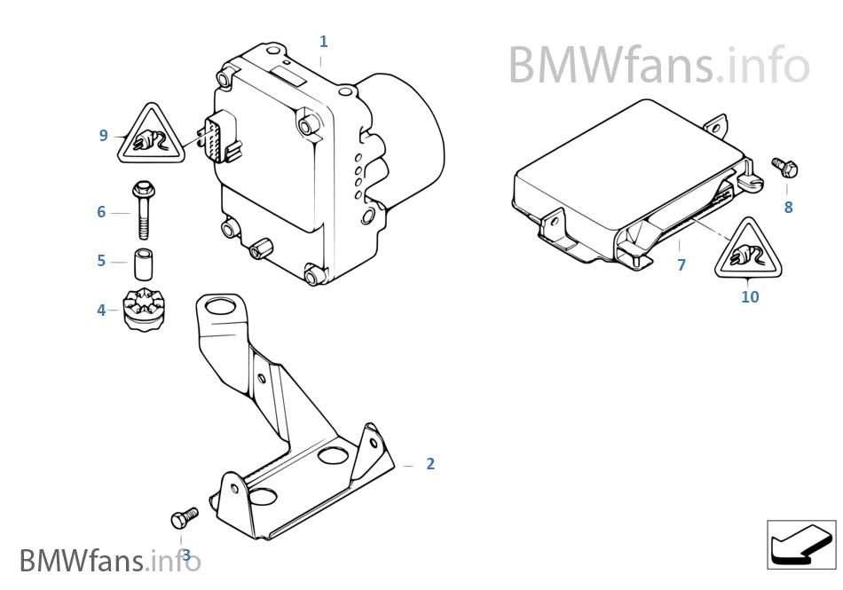 hydroaggregat abs steuerger t halterung bmw 5 39 e39 528i. Black Bedroom Furniture Sets. Home Design Ideas