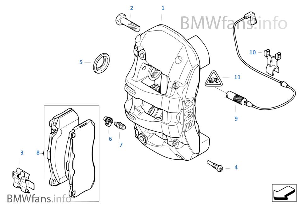 BMW 1 Series E82 03-12 BPF1751C FRONT BRAKE PAD KIT DI MONTAGGIO PINZA FRENO A MOLLA si adatta a