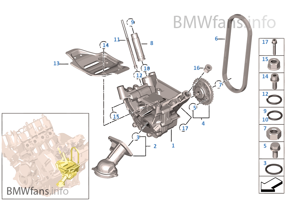 lubrication system oil pump with drive bmw x5 e70 x5 m s63 usa rh bmwfans info Well System Pressure Relief Diagram SBC Oiling System Diagram