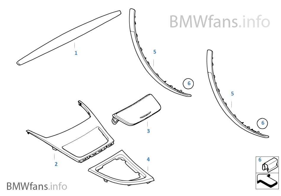 BMW Performance 내부장식 스트립, 카본
