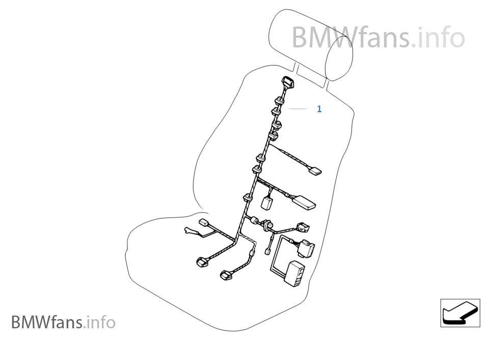 Wondrous Wiring Harness Basis Sport Seat Bmw X5 E70 X5 M S63 Usa Wiring Database Wedabyuccorg