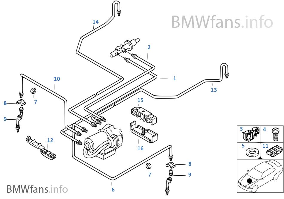 Brake Line Diagram | M52 Brake Diagram Wiring Diagram