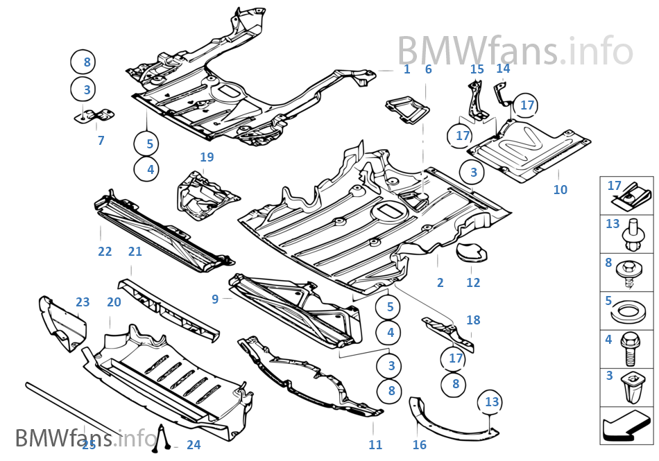 Pantalla compart. motor/revest. bajos