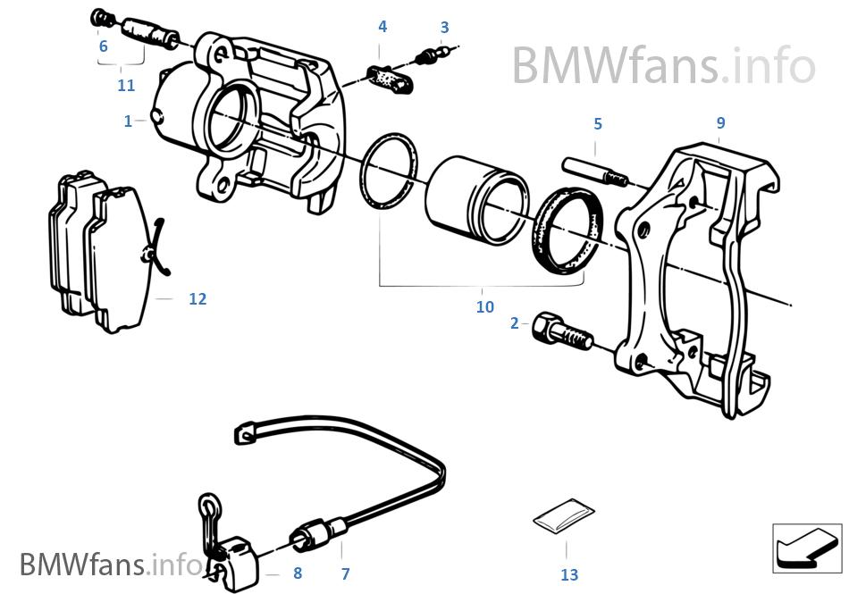F ホイール ブレーキ-パッド-センサー