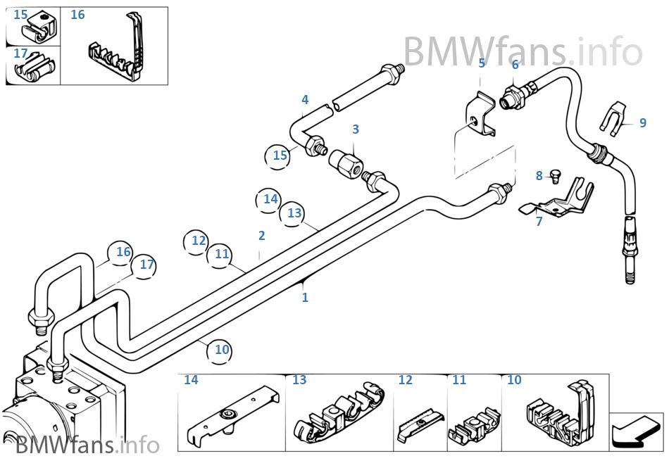 canalisation de frein bmw e46