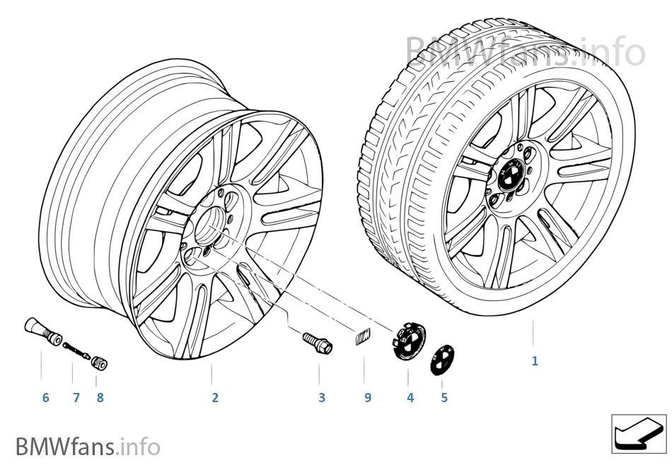 BMW alloy wheel, M double spoke 194