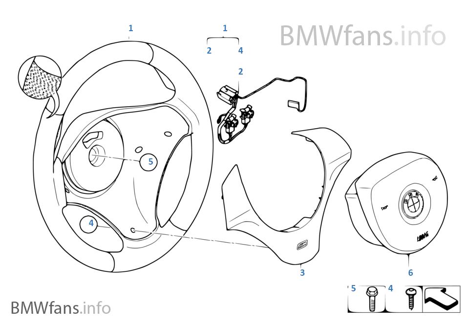M Volante deportivo con airbag cuero