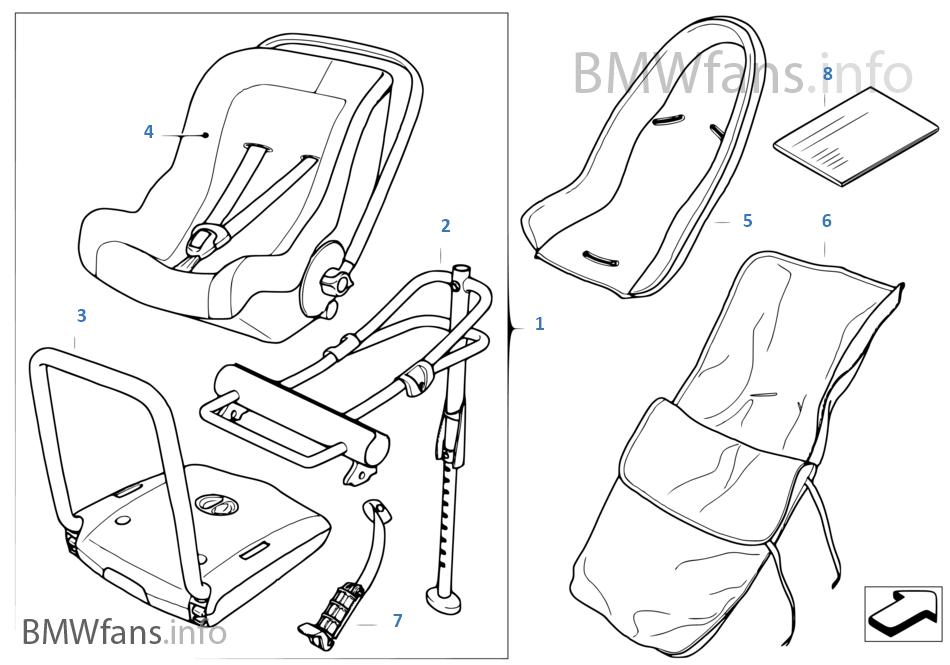 BMW Baby Seat 0+ Isofix