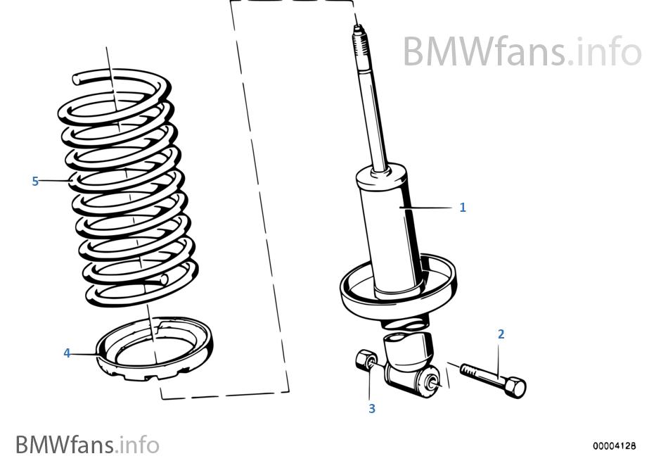 Amortecedor/mola helicoidal/peças mont.
