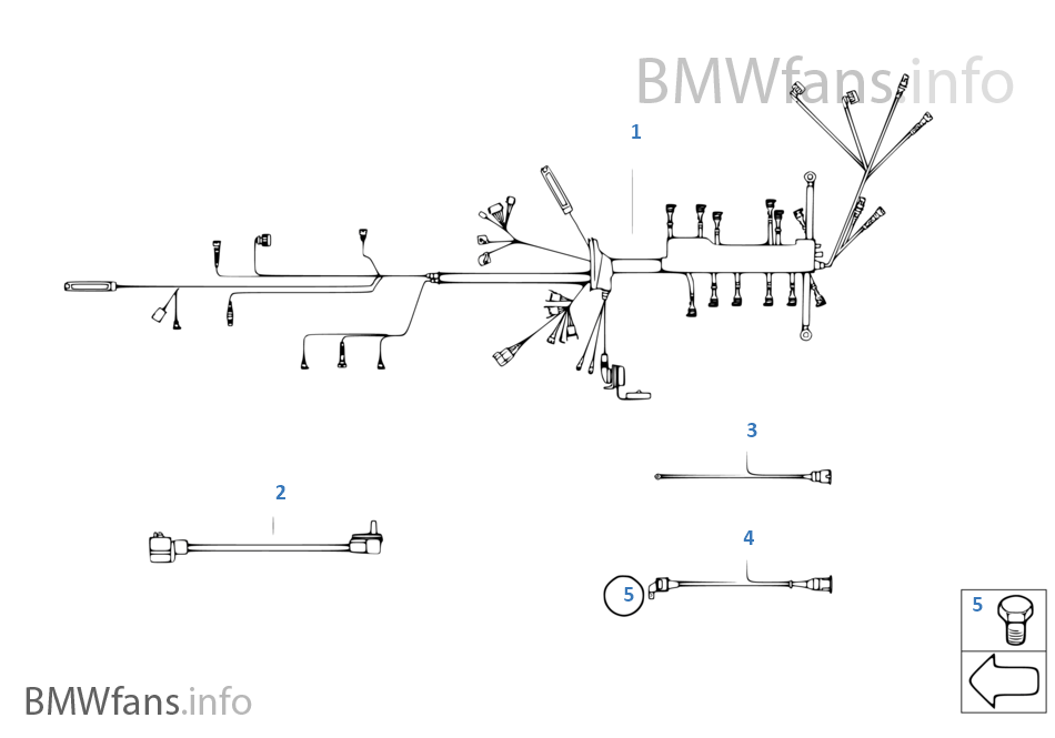 engine wiring harness bmw 3 e30 318i m40 europe rh bmwfans info BMW Headlight Wiring Diagram bmw m40 engine wiring diagram