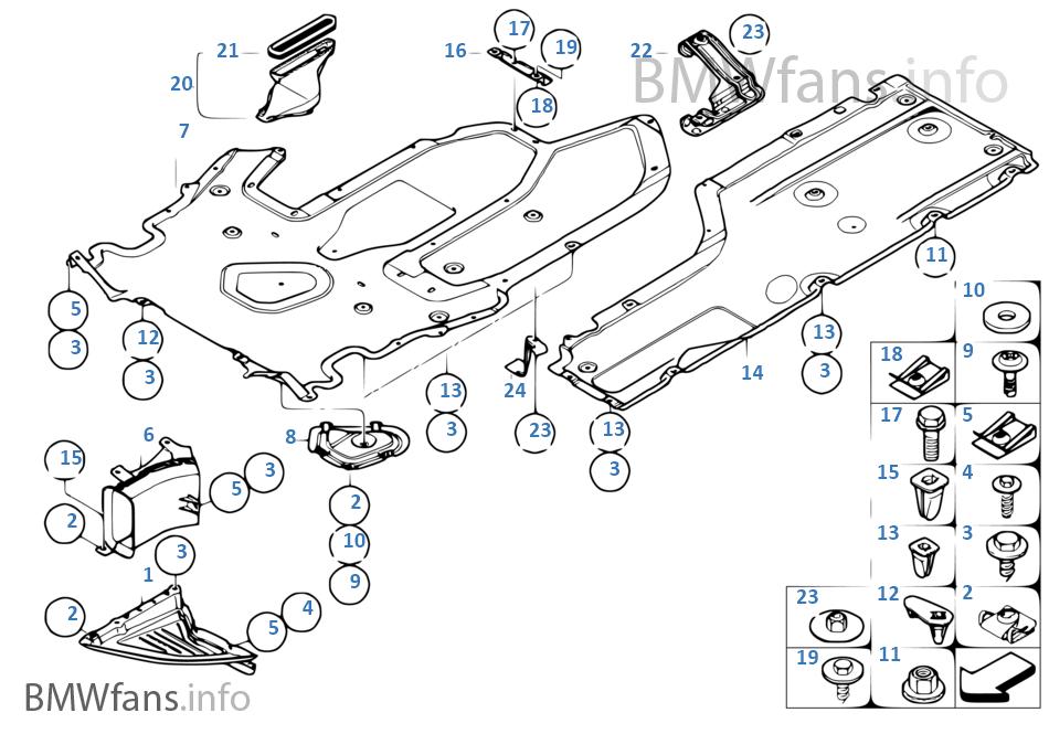 shield, engine compartm /underfloor panel  bmw 650i