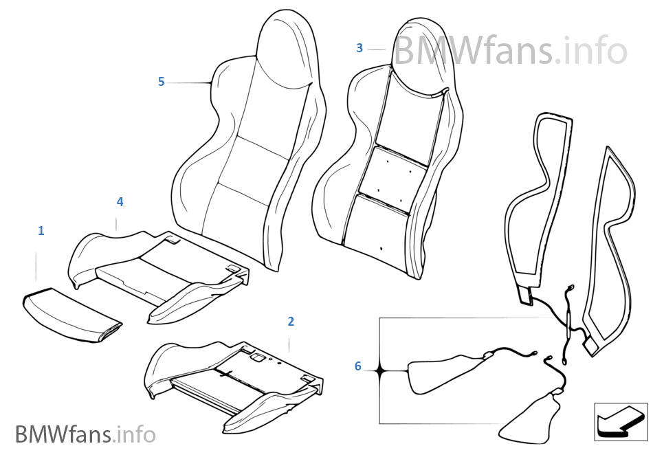 Outstanding Seat Front Uphlstry Cover Sport Seat Bmw Z4 E85 Z4 M3 Short Links Chair Design For Home Short Linksinfo