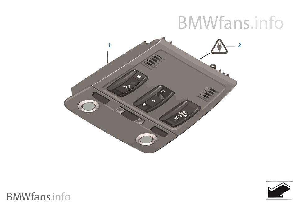 Switch Unit Roof Bmw 3 E90 330i N52 Usa