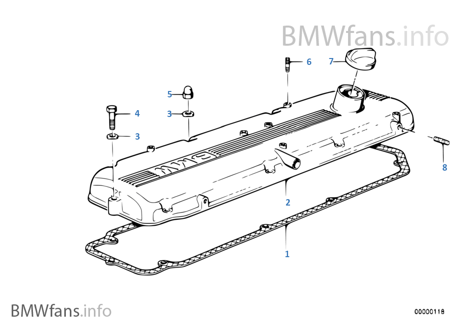 Cylinder head cover | BMW 7' E32 735i M30 South Africa