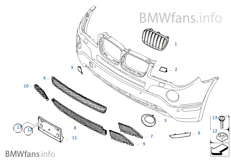 2007 bmw x3 exterior parts diagram  u2022 wiring diagram for free