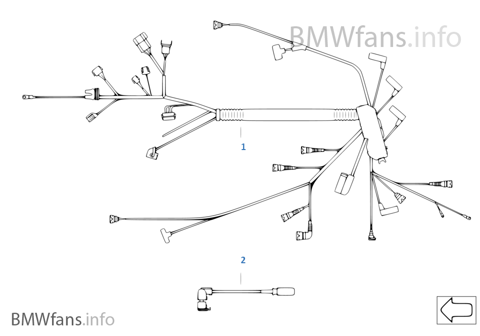 Engine Wiring Harness Bmw 3 E46 320d M47n Europe