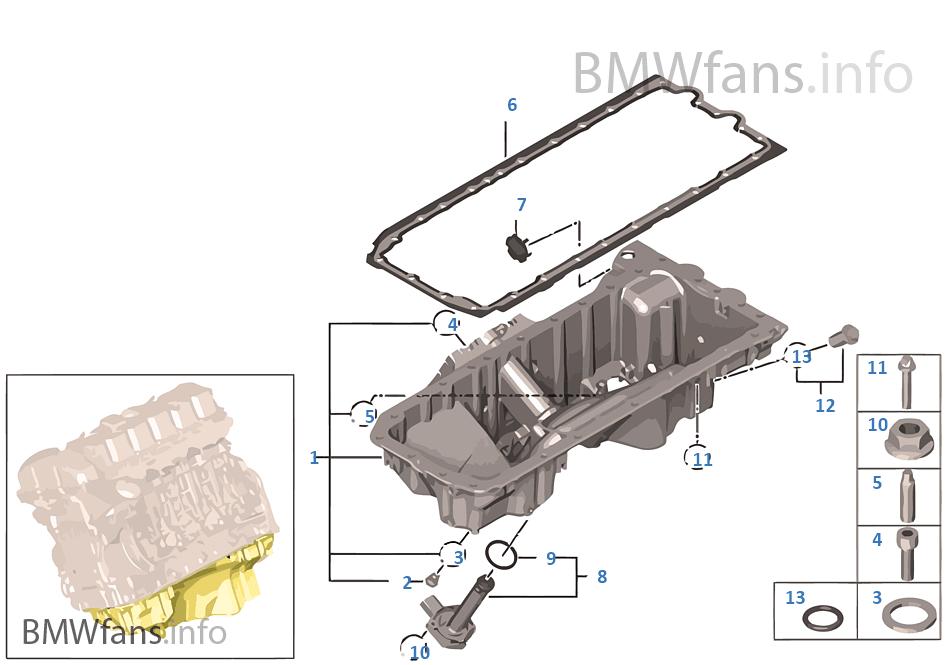 Oil Pan Bmw X6 E71 X6 35ix N54 Usa