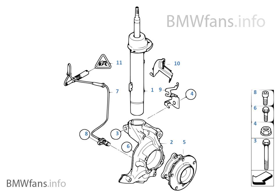 前部減震支柱/擺動軸承/車輪軸承
