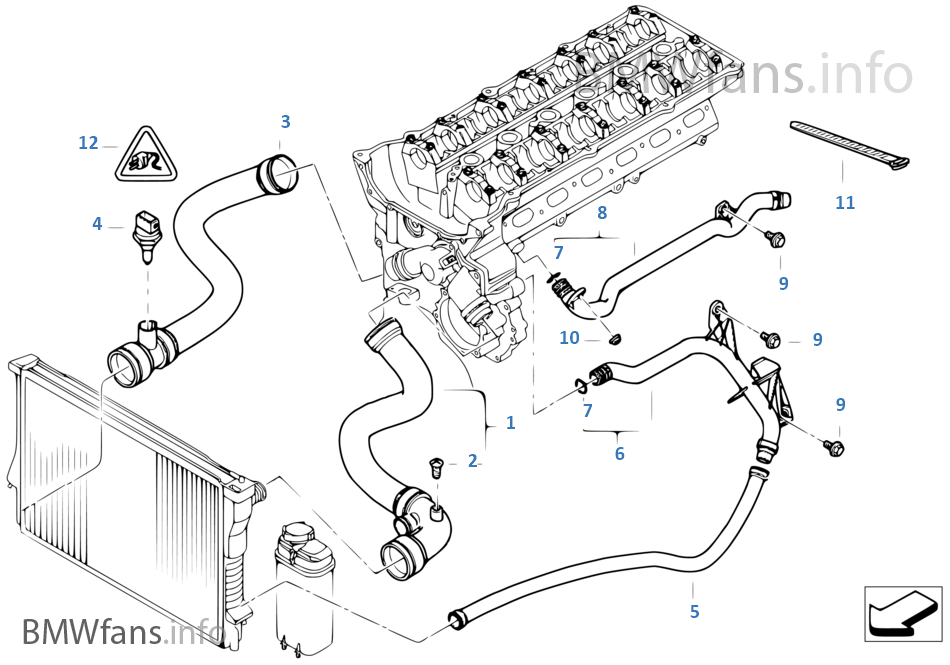 Cid 999501254 in addition Showthread likewise Cooling system water hoses furthermore 70369 Ccv Valve Oil Separation Failure Due Cold Weather Anyone Else 15 likewise Schematics h. on bmw e46 engine diagram