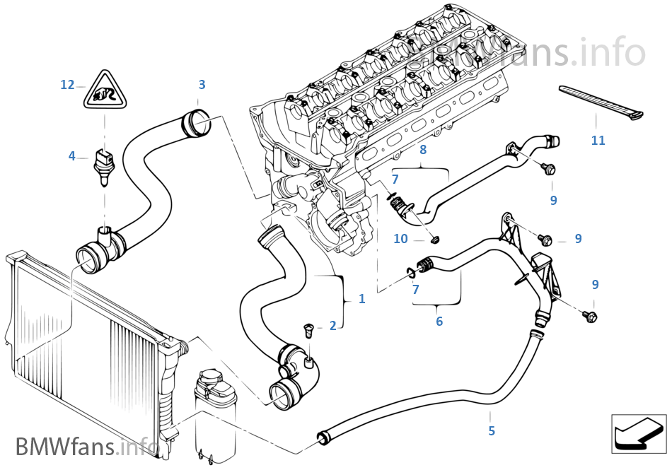 03 e46 coolimg diagram