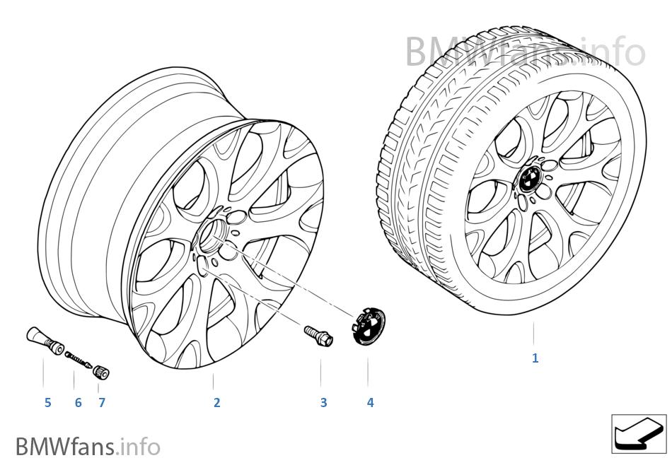Л/с диск BMW c Y-обр.спицами диз.211