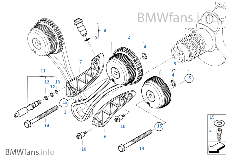 Timing Gear Timing Chain Cyl 5 8