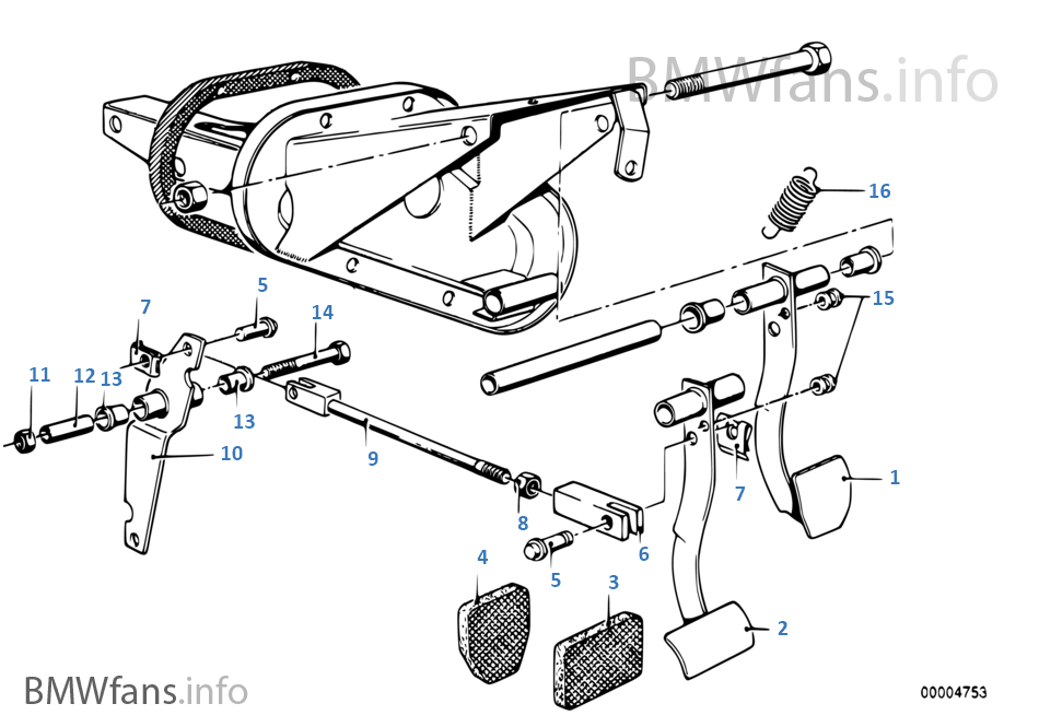 Pedaal mechanisme/omkeerstangenstelsel
