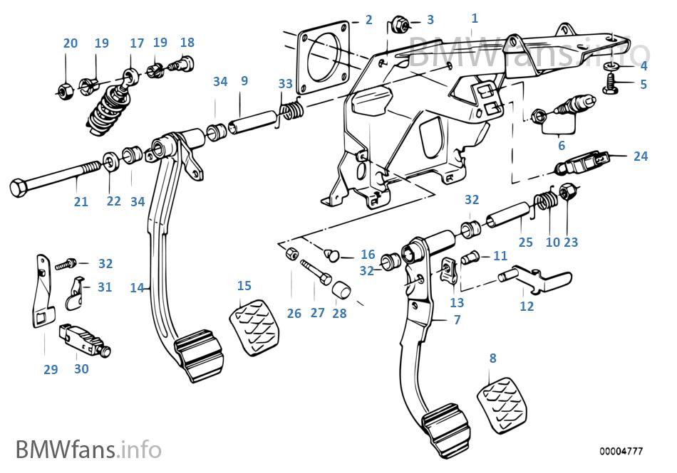 Pedal/Fren lambası şalteri