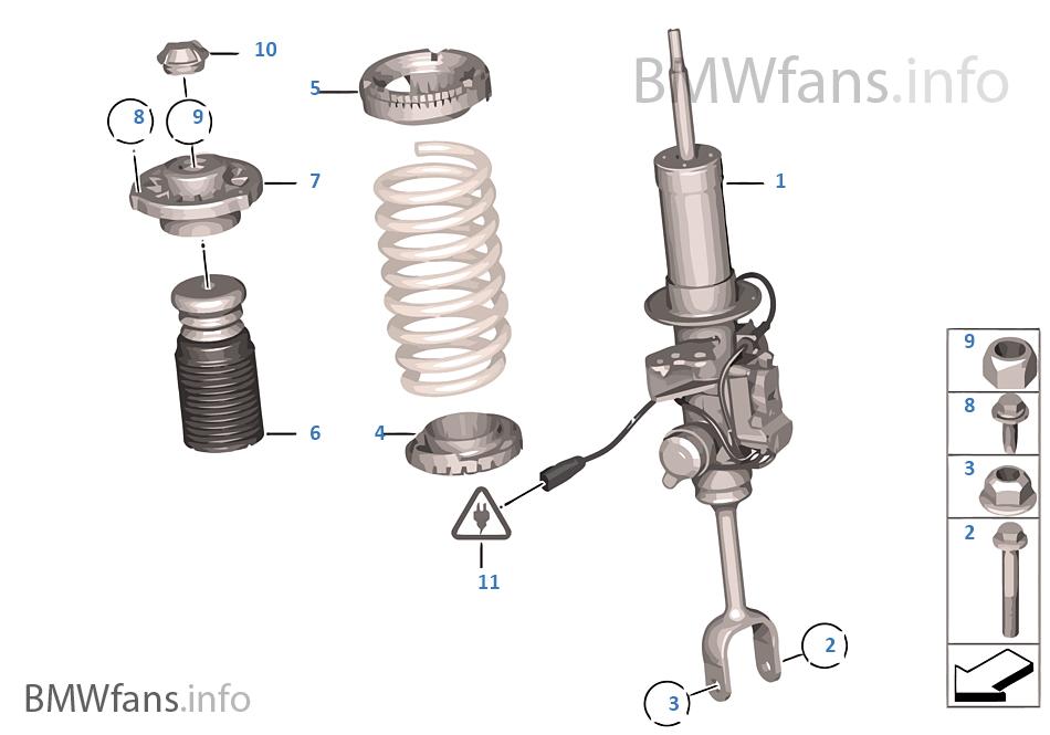 減震支柱 前部 VDC / 安裝件