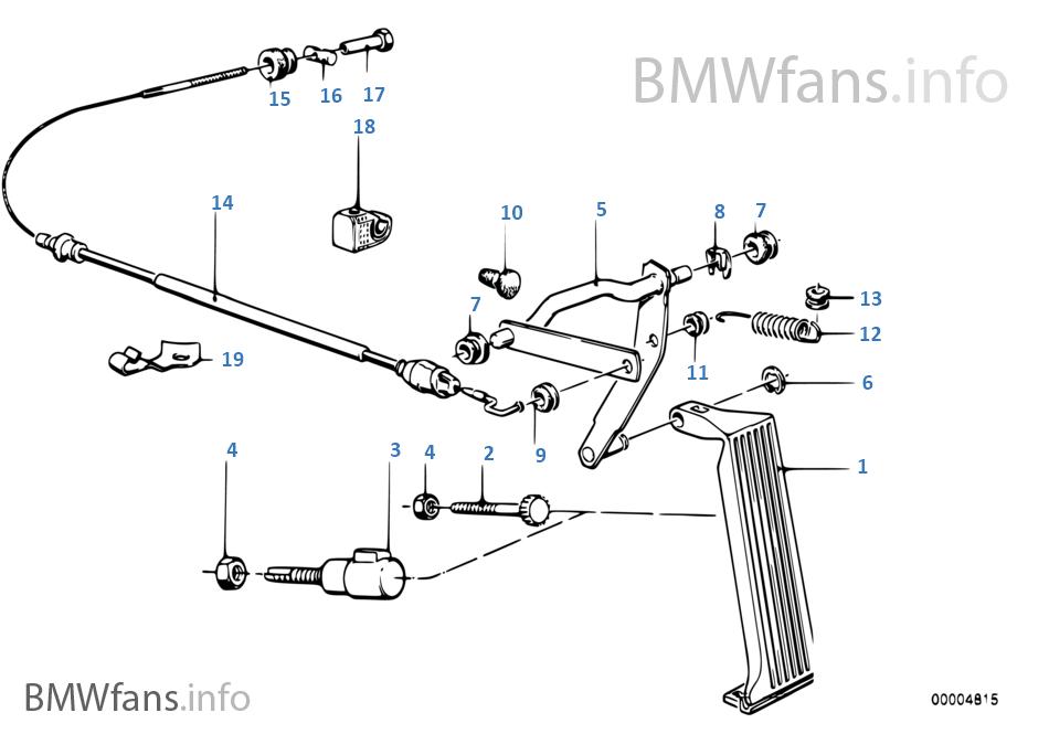 Gasbediening/bowdenkabel LHD