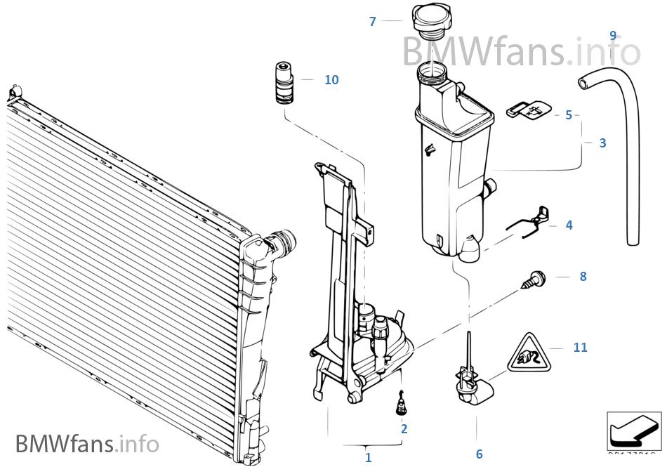 Vase D Expansion Plaque De Montage Bmw 3 E46 330d M57 L Europe