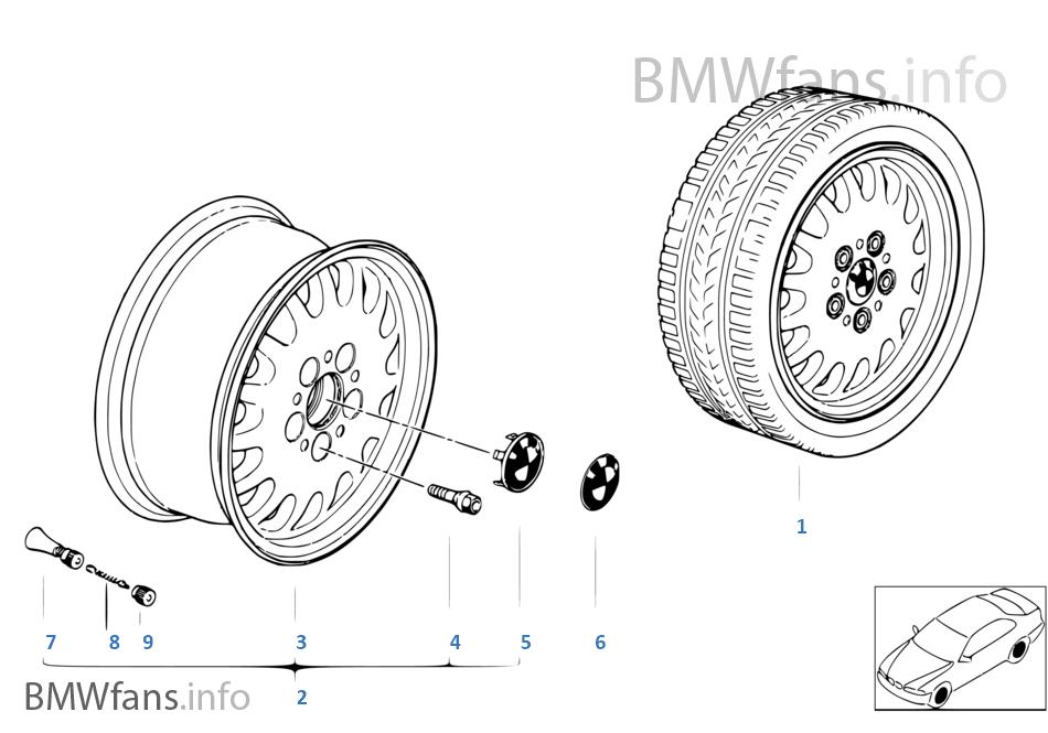 แบบล้อ BMW (แบบที่ 6)