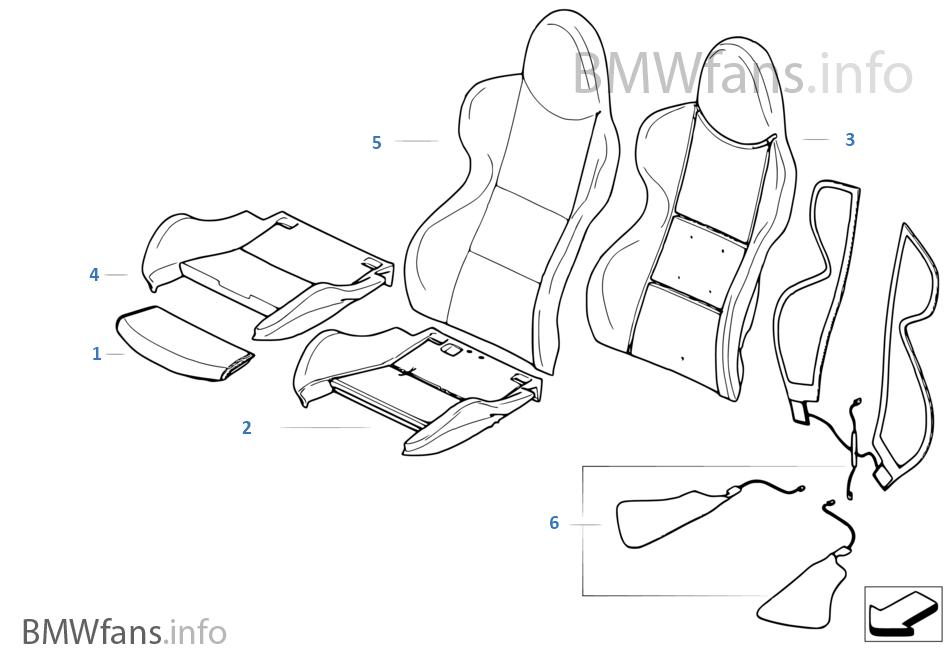 Surprising Seat Front Uphlstry Cover Sport Seat Bmw Z4 E85 Z4 2 5 Short Links Chair Design For Home Short Linksinfo
