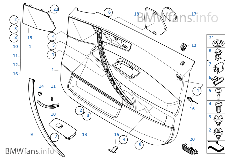 interior bmw x3 parts catalog