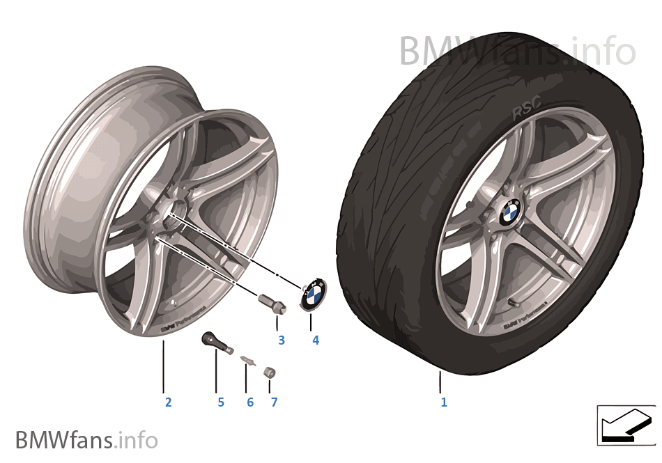 BMW Performance LA wheel DoubleSpoke 313