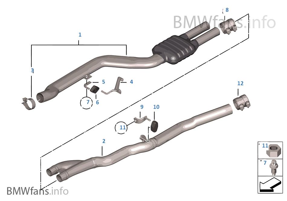 Center muffler | BMW 5' F10 530d N57 India