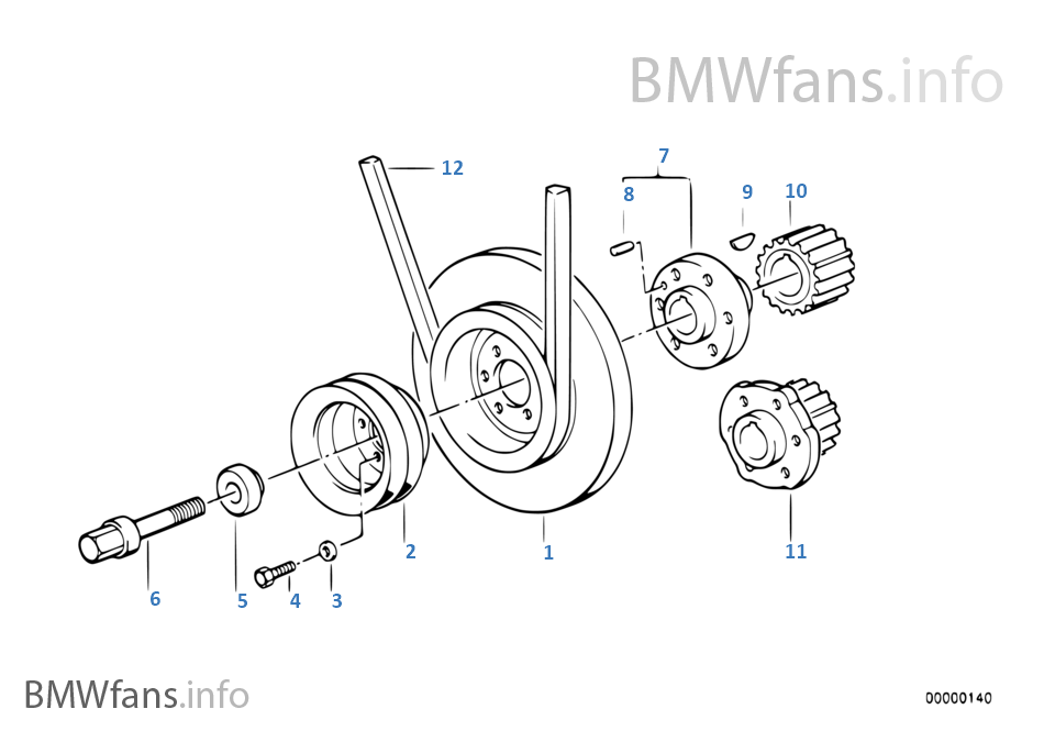Belt Drive-Vibration Damper | BMW 3' E30 325i M20 Europe