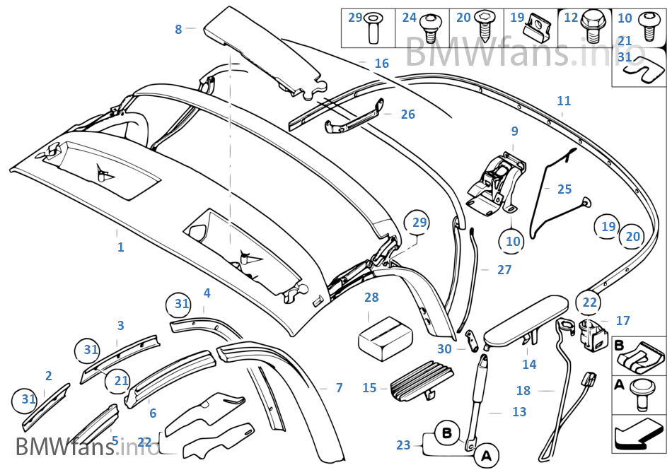 2003 bmw z4 convertible parts diagram  2003  free engine