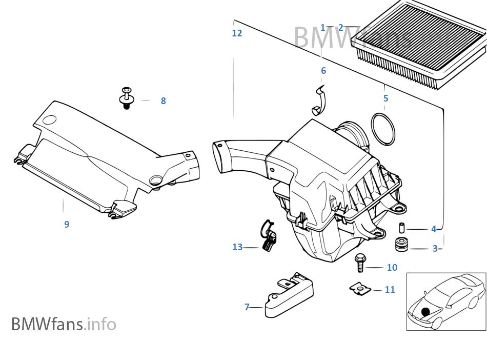 BMW 13-71-1-438-768 SUCTION TUBE