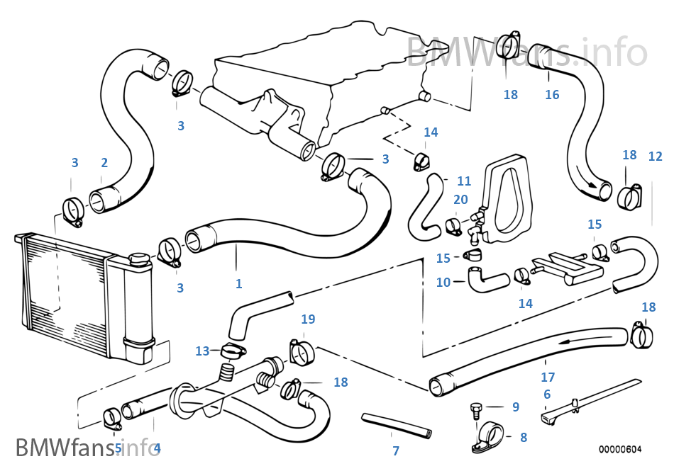 bmw m42 wiring diagram cooling system water hoses | bmw 3' e36 318is m42 europe bmw m42 engine diagram