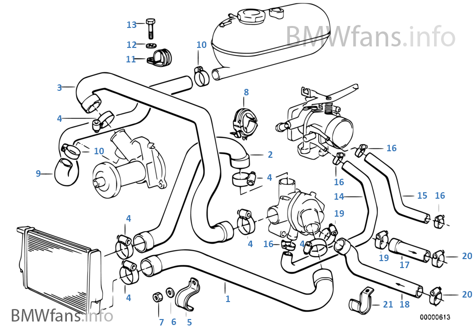 E30 Coolant System Engine Diagram And Wiring Diagram